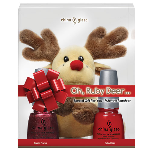 China Glaze Oh, Ruby Deer... Set Nail Lacquer with Hardeners