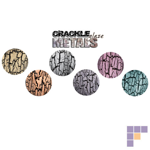 China Glaze Crackle Metals Collection Nail Lacquer 6 Pack