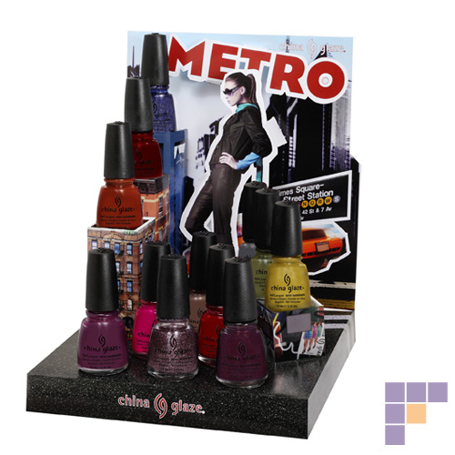 China Glaze Metro Collection 12 Piece Counter Display