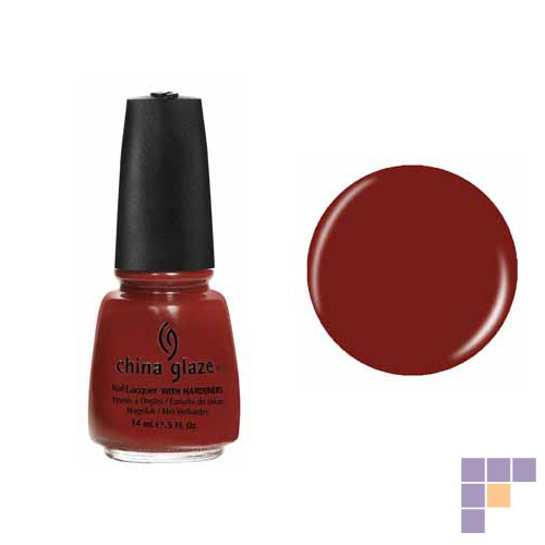 China Glaze Brownstone Nail Lacquer with Hardeners