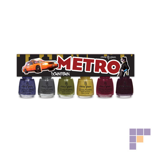 China Glaze Metro Collection Downtown Nail Lacquer 6 pack