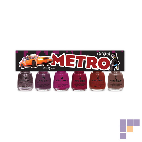 China Glaze Metro Collection Uptown Nail Lacquer 6 pack
