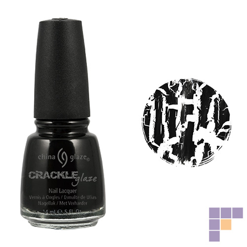 China Glaze Crackle Collection Black Mesh Black Nail Lacquer