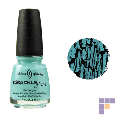 China Glaze Crackle Collection Crushed Candy Blue Nail Lacquer