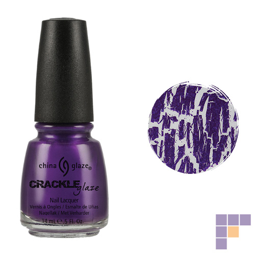 China Glaze Crackle Collection Fault Line Purple Nail Lacquer