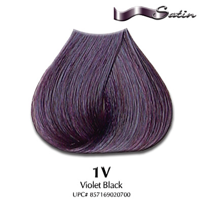 Satin Hair Color #1V Violet Black | Hair Coloring | Satin Hair Color ...