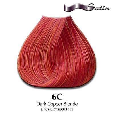 Satin Hair Color #6C Dark Copper Blonde