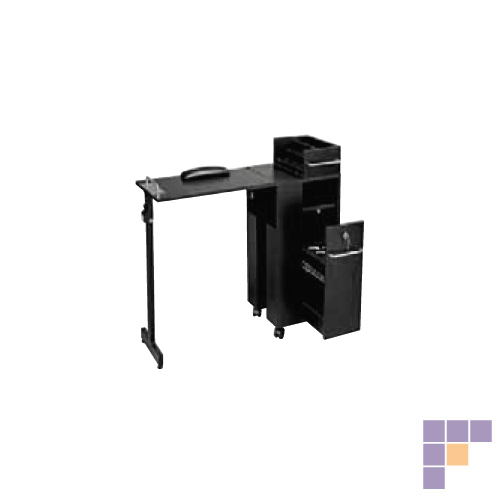 Pibbs 2009BL Folding Manicure Station- Black