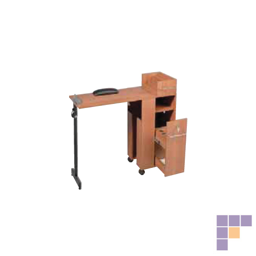 Pibbs 2009WD Folding Manicure Station- Wood