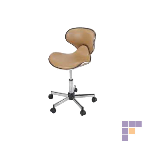Pibbs 645 Butterfly Midi Stool with Backrest
