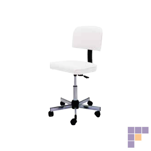 Pibbs 648 Technician Stool with Adjusting Backrest