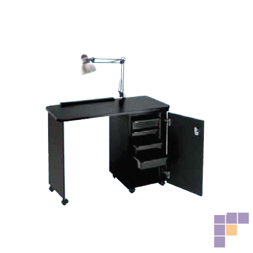 Pibbs NC1006N Delux Nail Center with Locking Cabinet