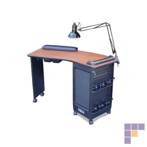 SalonTuff BMT-C Boomerang Manicure Table - Cherry
