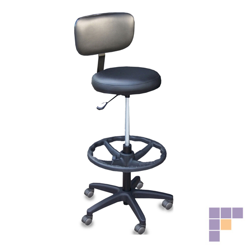 SalonTuff ECS-C Econo Cosmetic Stool with Casters